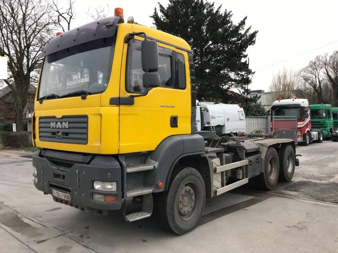 container truck MAN TGA 33.480 6X4 MANUAL RETARDER 2007
