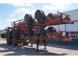 container chassis semi trailer Ackermann Fruehauf Container chassis 2-assig / 40ft. / Full Steel 1974