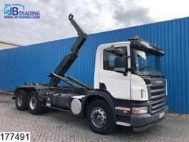container truck Scania P380 6x4, Manual, Steel suspension, Dalby Hook lift, Airco, euro 4 2007