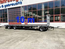 flatbed full trailer Möslein T 3 Plato 10 m  3 Achs Jumbo- Plato- Anhänger, 10 m Ladeflächenlänge 2019