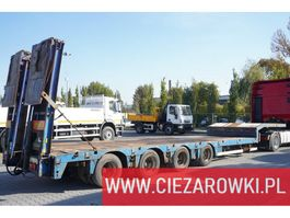 lowloader semi trailer Nooteboom OSDS-58-04 , 4 axles , expanded , 13,15 x 3,07m , hydraulic ramp 2009