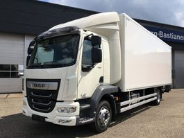 closed box truck DAF NEW LF230 11990 or 14T Ext daycab Autom Airco 6cil Bär 1500KG 2021