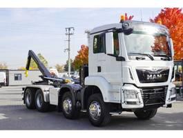 container truck MAN TGS 35.460 , E6 , 8X4 , 30K km , 2019 , retarder , hook HYVA 20T 2019