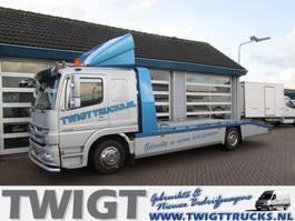 car transporter truck Mercedes-Benz Atego 1229 L Lange cabine, 6 cilinder 300 pk, airco 8-Bak 2009