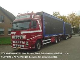 sliding curtain truck Volvo FH440 6X2 FAL8.0 RADT-A8 MED  Kippentransport Schuifzeilen Hefdak 2008