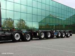 container chassis semi trailer D-TEC CT 60 05D 5-AS BREKER 3x STUURAS BPW ASSEN SUPER STAAT 2009