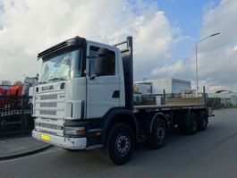 drop side truck Scania 124 L 470 8X4 / MANUAL GEARBOX / STEELSUSPENSION !! 2003
