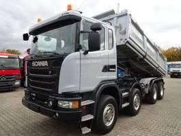 tipper truck > 7.5 t Scania G450 Dreiseitenkipper MEILLER Bordmatik 8x4 BB 2016