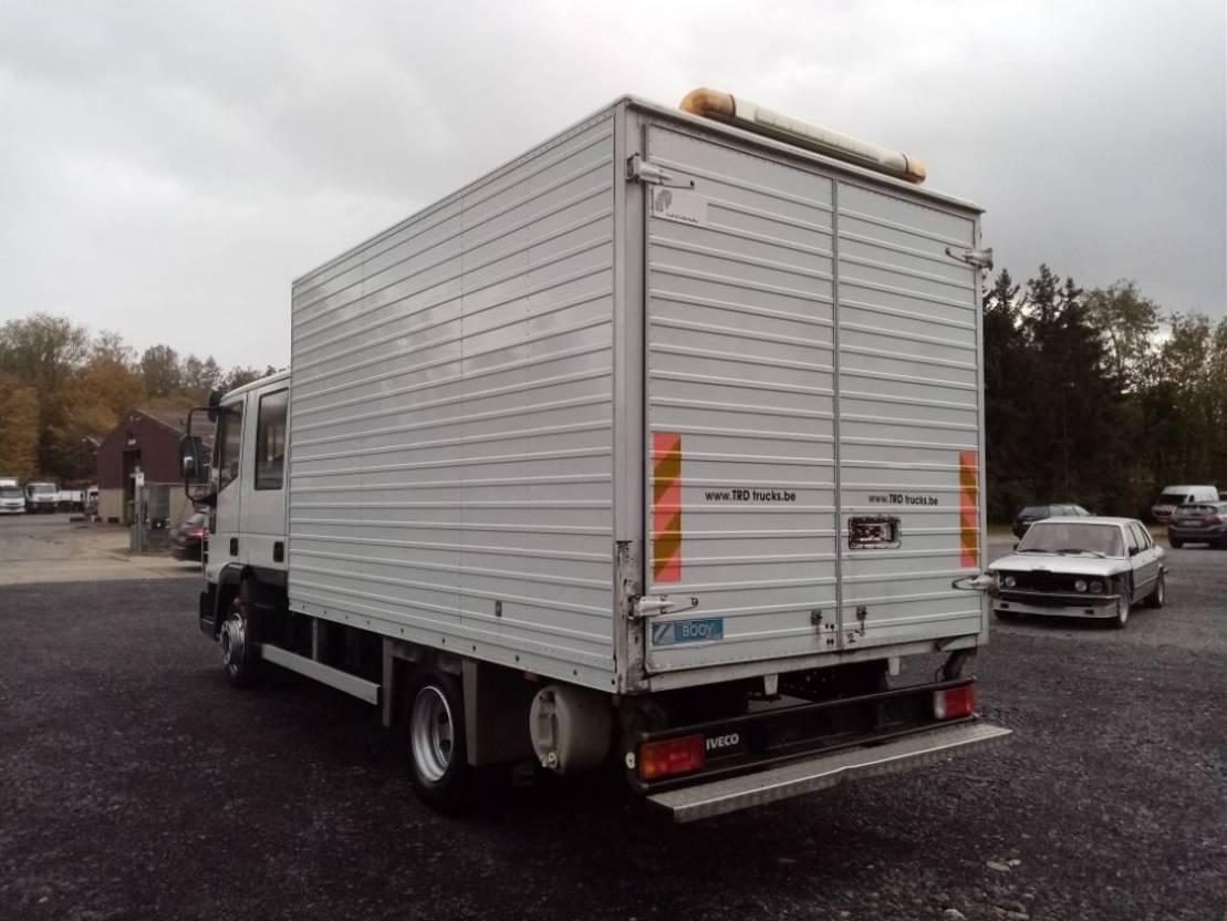 closed box truck > 7.5 t Iveco EuroCargo 80 80E18 Dubbele Cabine 177300kms!! 2006