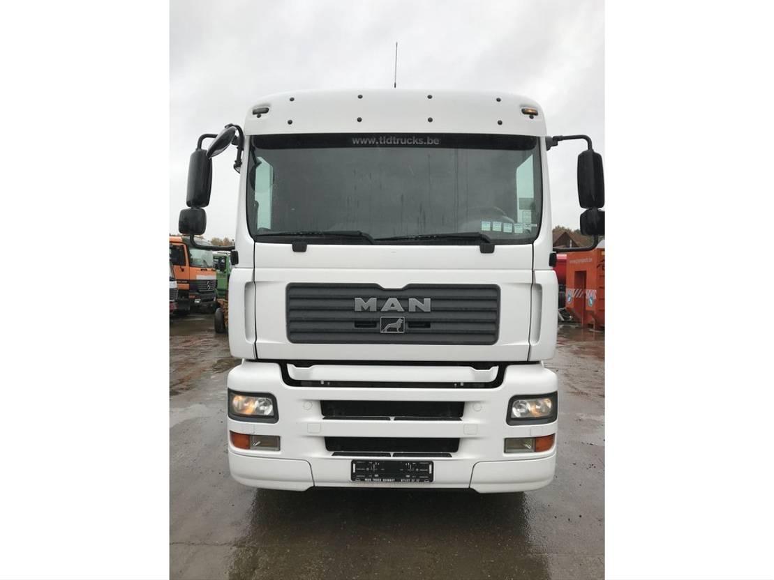 closed box truck > 7.5 t MAN TGA 26.350 6X2 **9 METER BOX+LIFT-BELGIAN TRUCK-TOPSHAPE** 2006