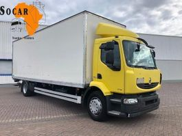 closed box truck Renault MIDLUM 18.270 DXI AUTOMATIC 2012