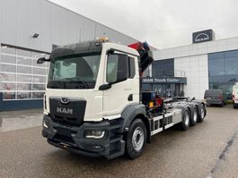 crane truck MAN New Generation MAN TGS 35.470 8x4-4 BL-NN kraan+containerhaak 2021
