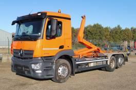container truck Mercedes-Benz 2746 L - 6x2/4 - ANTOS - 81.561 Km - EURO 6 - VOITH RETARDER - MEILLER HAAK