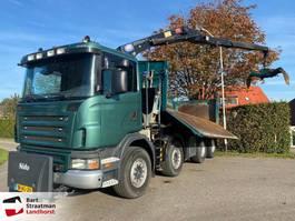 tipper truck > 7.5 t Scania G380 B 8X4 euro 5 kipper met HMF 1643 Z-kraan 2009