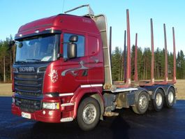 timber truck Scania R-580 8X4 4700 2014