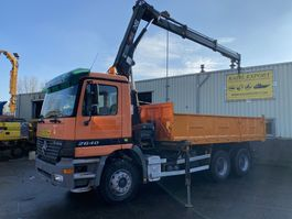автокран Mercedes-Benz Actros 2640 Kipper 6x4 V6 Hiab Crane Good Condition 2003