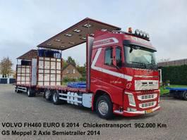 sliding curtain truck Volvo FH460 6x2 Schuifzeilen Hefdak Kippentransport Liftas en Stuuras Euro 6 2014