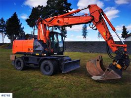 wheeled excavator Hitachi 190W Hjulgraver 2013