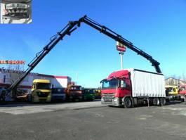 platform truck Mercedes-Benz Actros 2541 6x2 Pritsche Heckkran 32m/to, Jib, 2011