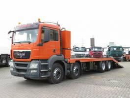 platform truck MAN TGS 35.400 8x4 BL Pritsche hydr. Rampen+Winde 2009