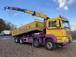 tipper truck > 7.5 t MAN TGA 41.440 8X4 BL Kipper-Kran HMF 1820 K 4 2008