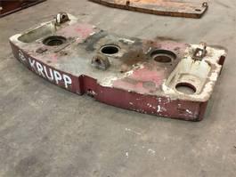 other equipment part Krupp KMK 3045 counterweight 3.4 t