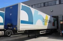 closed box semi trailer Van Hool Lot box-opleggers met stuuras en laadbrug