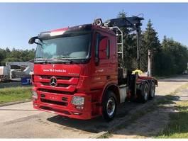 timber truck Mercedes-Benz ACTROS 3360 6X4 + HIAB 251S80 WOOD CRANE 2013