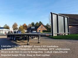 flatbed semi trailer Lintrailers 3 LPO 18-27 3 As Open Zware UNP kantbalken met Rongpotten ook dwar in de vloer 2020