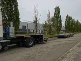 lowloader semi trailer Broshuis 5 ASSIGE DIEPLADER / KEURING / STUURASSEN / UITSCHUIFBAAR 2003