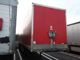 closed box semi trailer Samro Semitrailer Dryfreight box Roldeur Hydr. laadklep 2012