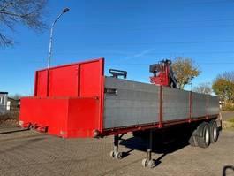 flatbed semi trailer Pacton 2126 D 2 AXLE STEEL SUSPENSION, CRANE 1978