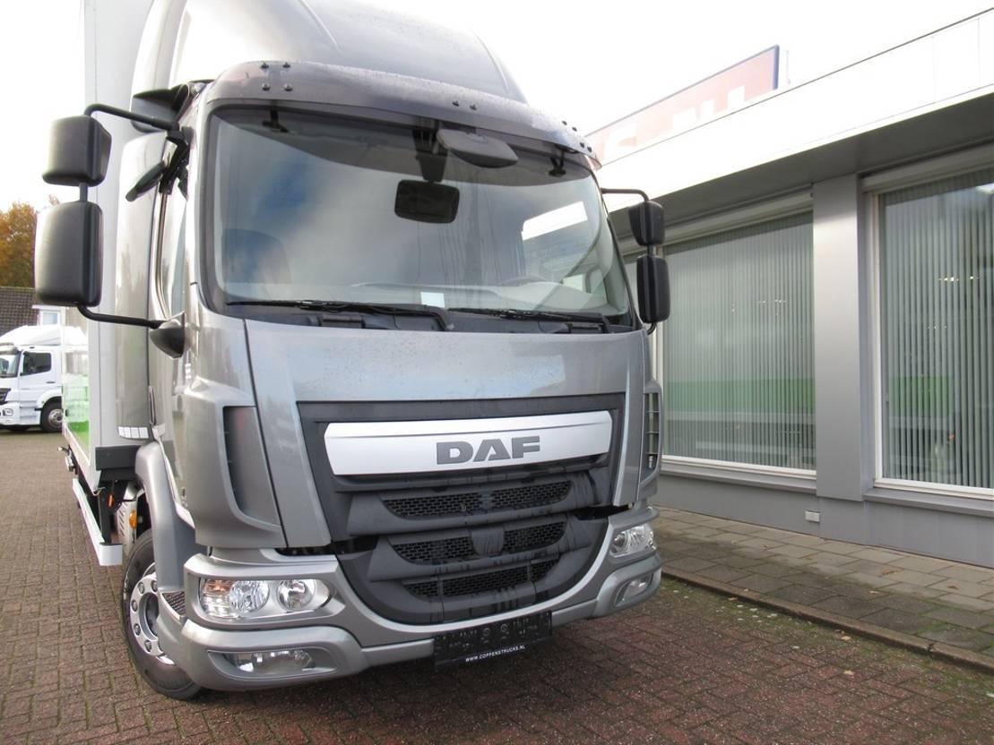closed box truck > 7.5 t DAF 45 LF 210 Bak met klep 2000kg Euro 6 2015
