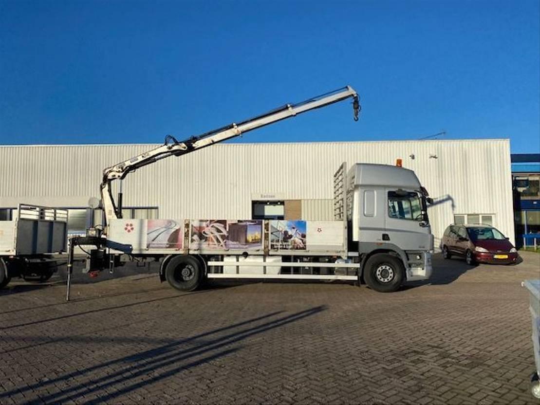 Pritsche offen LKW DAF CF 85.360 (with Hiab XS 099 crane B2 duo) + Happy trailer 2008