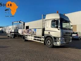 camión de lateral abatible DAF CF 85.360 (with Hiab XS 099 crane B2 duo) + Happy trailer 2008
