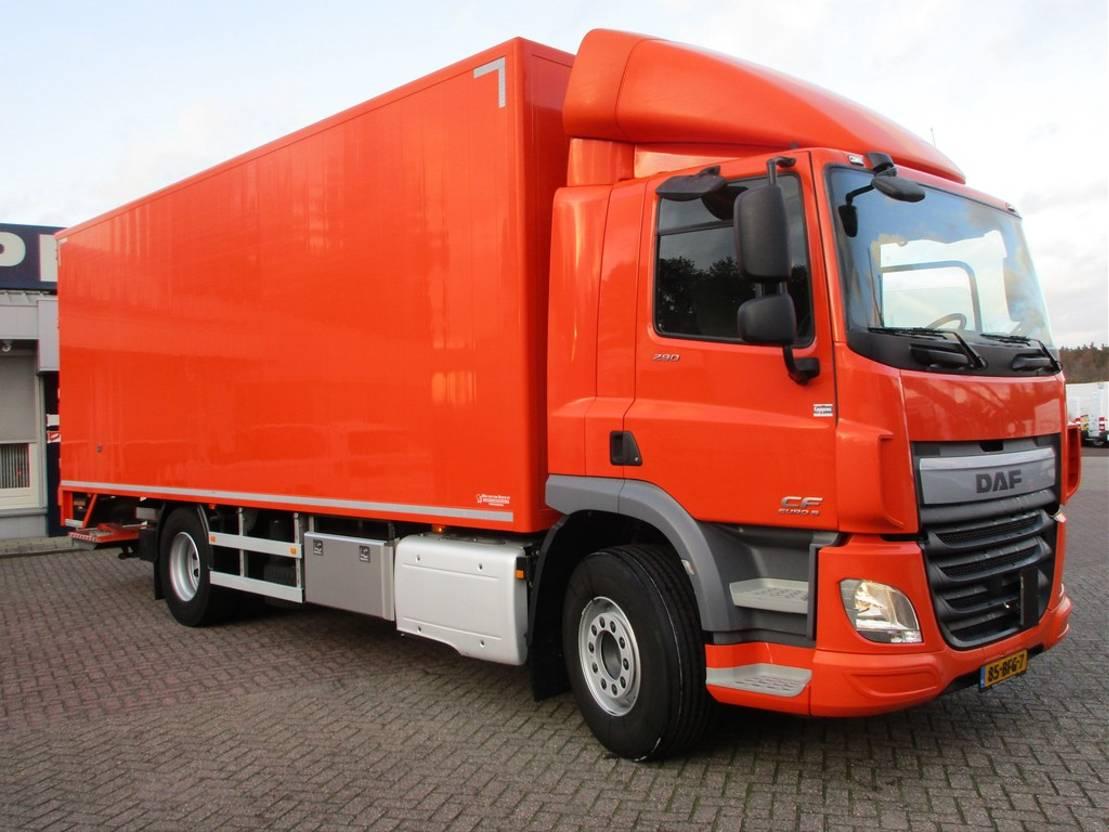 closed box truck > 7.5 t DAF CF 290 FA 4X2 Bak+Klep Euro 6 2014