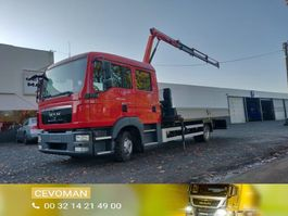drop side truck MAN TGL 8 .220 Doka / Dubbel cabine kraan Palfinger PK3400 2010