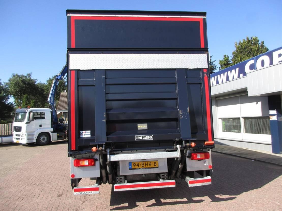closed box truck > 7.5 t Volvo FE 250 4x2 Gesloten bak met laadklep Euro 6 2016