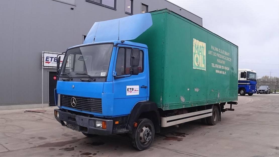 closed box truck > 7.5 t Mercedes-Benz SK 814  (FULL STEEL SUSPENSION / MANUAL PUMP / EURO 2) 1993
