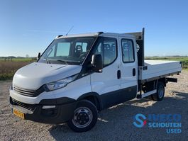 chassis lcv Iveco Daily 35C12D 3750 Dubbele Cabine open laadbak Climate control 2018