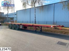 flatbed semi trailer Trailor open laadbak 10 / 20 / 30 / 40 / FT container chassis, Steel suspension,... 1992