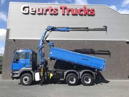 tipper truck > 7.5 t MAN TGS 26 400 6X6 KIPPER+KRAAN/KRAN/CRANE/GRUA 2013