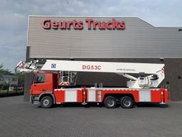 mounted boom lift truck Mercedes-Benz Actros 3332 6X4 XCMG DG53C FIRE FIGTHING PLATFORM 53 METER 2012