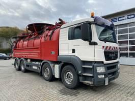 vacuum truck MAN TGS 35.480 8x4 Kanalreiniger Wiedemann 17000 L 2009