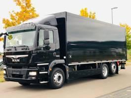 closed box truck MAN TGM 26.320 LL / NAVI / LENKACHSE / LBW / 2 x AHK