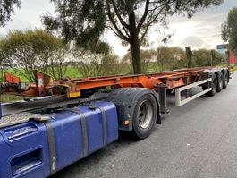 container chassis semi trailer Lecitrailer 3 AS - BPW + DOUBLE BDF SYSTEM 2004