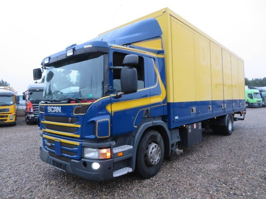 closed box truck > 7.5 t Scania P280 4x2 Euro 5, 8,20 m. Alubox 2012