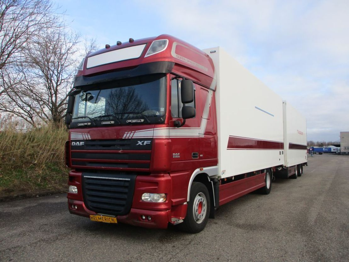 closed box truck > 7.5 t DAF 105.410 EURO 5 COMBIE 2007