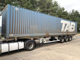 container chassis semi trailer ASCA 3-AXLES CONTAINERCHASSIS + 40' CONTAINER / PORTE CONTAINER + CONTAINER 40' inclus 2005