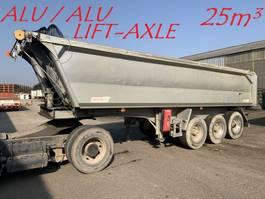 tipper semi trailer Benalu 25m³ -  3-ESS. SMB - ALU / ALU - ESSIEUX RELEVABLE - SUSP AIR - JANTES ALU / LIFT AXLE - FULL ALU - ALU WHEELS - AIR SUSP. 2006